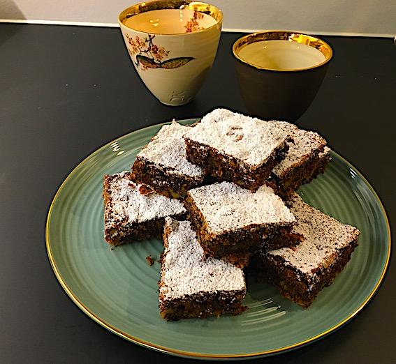 Brownies bagt i bradepande.