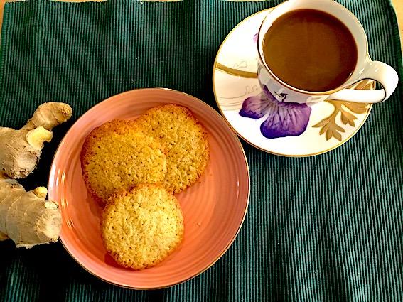 Ingefær cookies uden valnødder.
