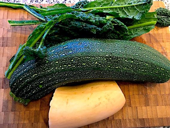 Ingredienser til tapas med græskar og squash