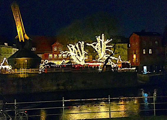 Julemarked i Lüneburg med julestemning