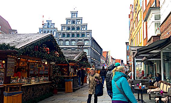Julemarked i Lüneburg med træborer