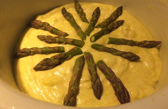 Soufflé med asparges