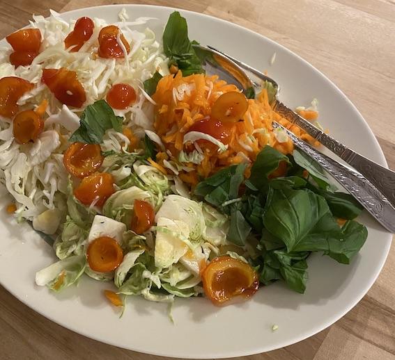 Salat til oksesteg