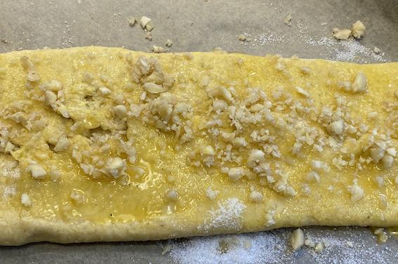 Kringle med remonce klar til bagning