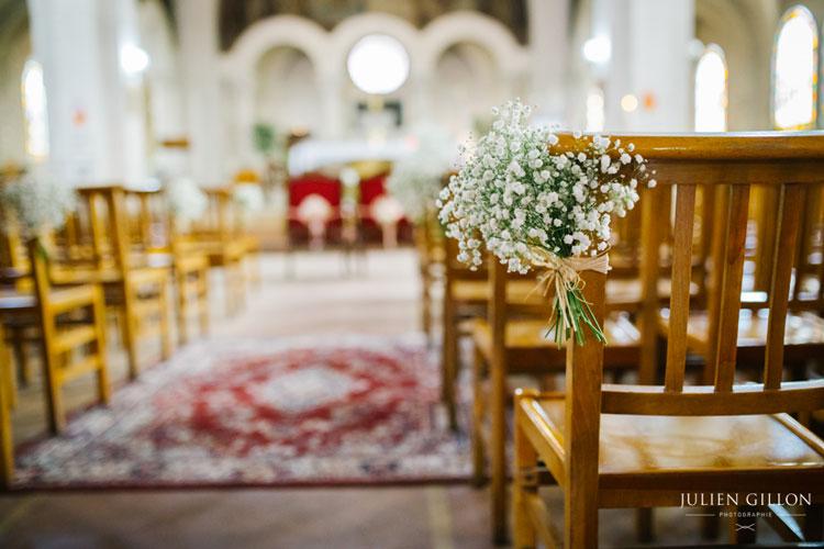 julie mathieu bouquet eglise gypsophiles bout de banc reflets fleurs champetre mariage wedding fleuriste paris france