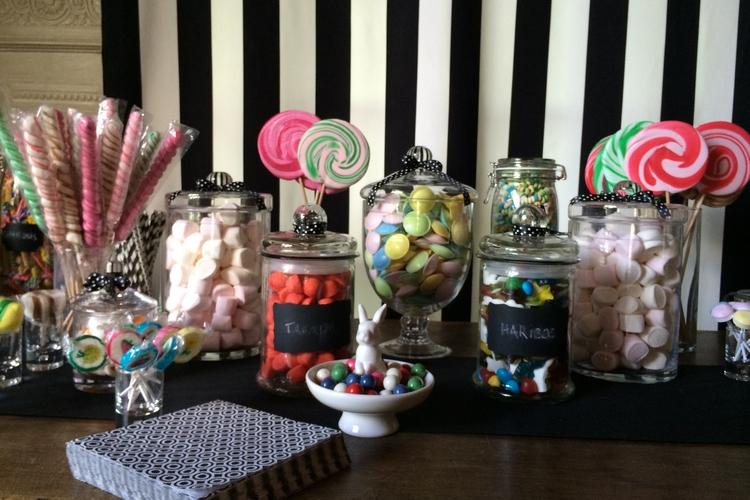 candy bar reflets fleurs mariage
