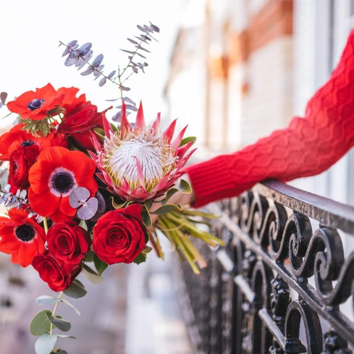 Red Naomi bouquet de fleurs à livrer dans toute la France pour la saint valentin.