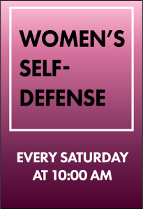 Womens Self defense Class ad