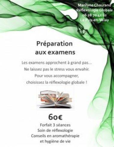 flyer préparation aux examens