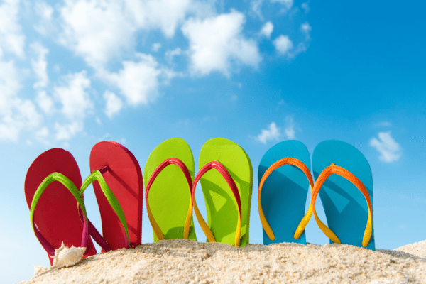 flip flops are bad footwear and bad for your posture and health