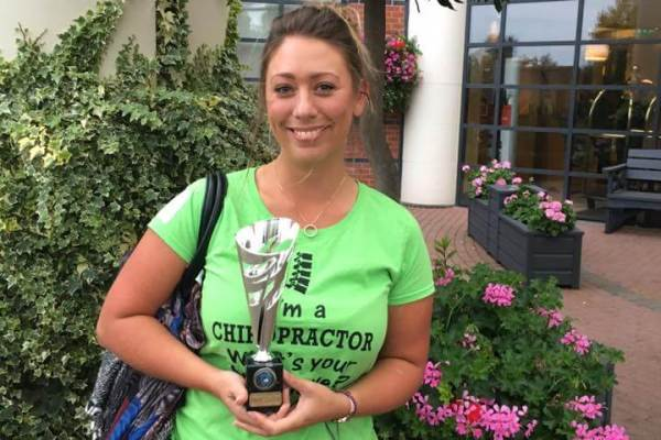 Associate chiropractor of the year Zoë Lofthouse