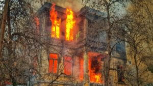house fire metaphor for back pain