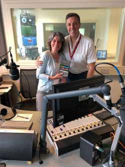 Reading Chiropractor Andrew Andy Green on BBC Radio Berkshire with Sue Kinnear