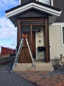木製玄関フード
