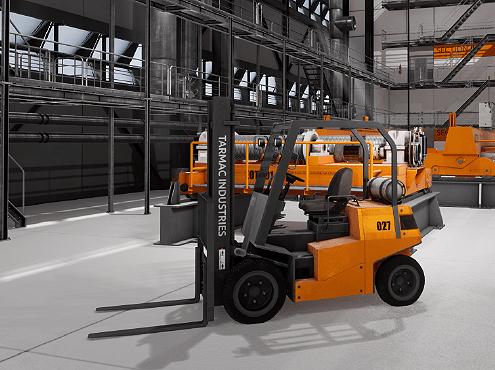 Forklift simulator