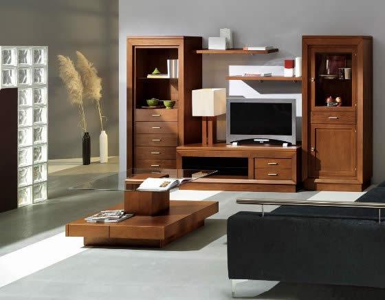 Muebles En El Salon  Mobiliario hogar Arte Nogal