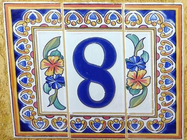 azulejos aartistico numeración fachada