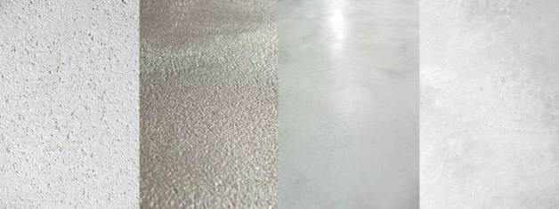 las diferentes texturas del microcemento que determinan la limpieza