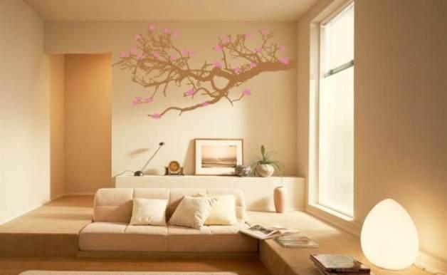 pintura artistica en el salon de una casa