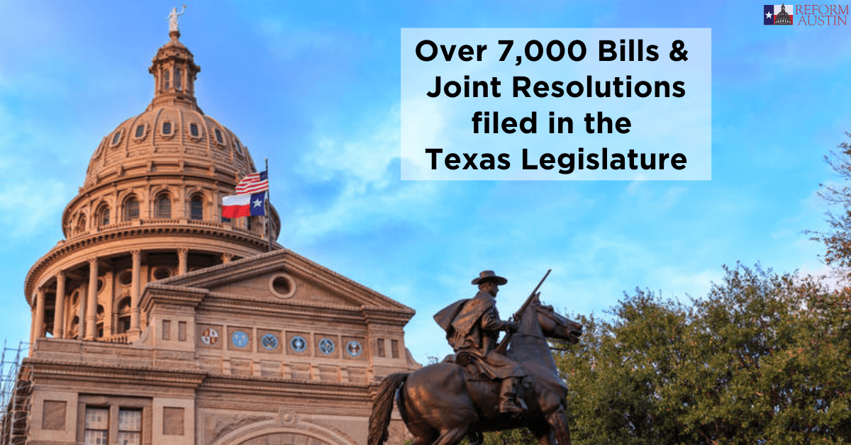 Over 7,000 Bills and Joint Resolutions Filed in the 86th Legislative Session