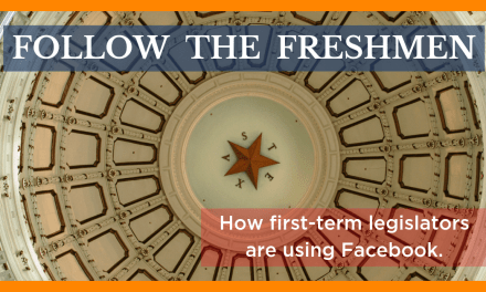 Follow the Freshmen: How First-Term Legislators are Using Facebook