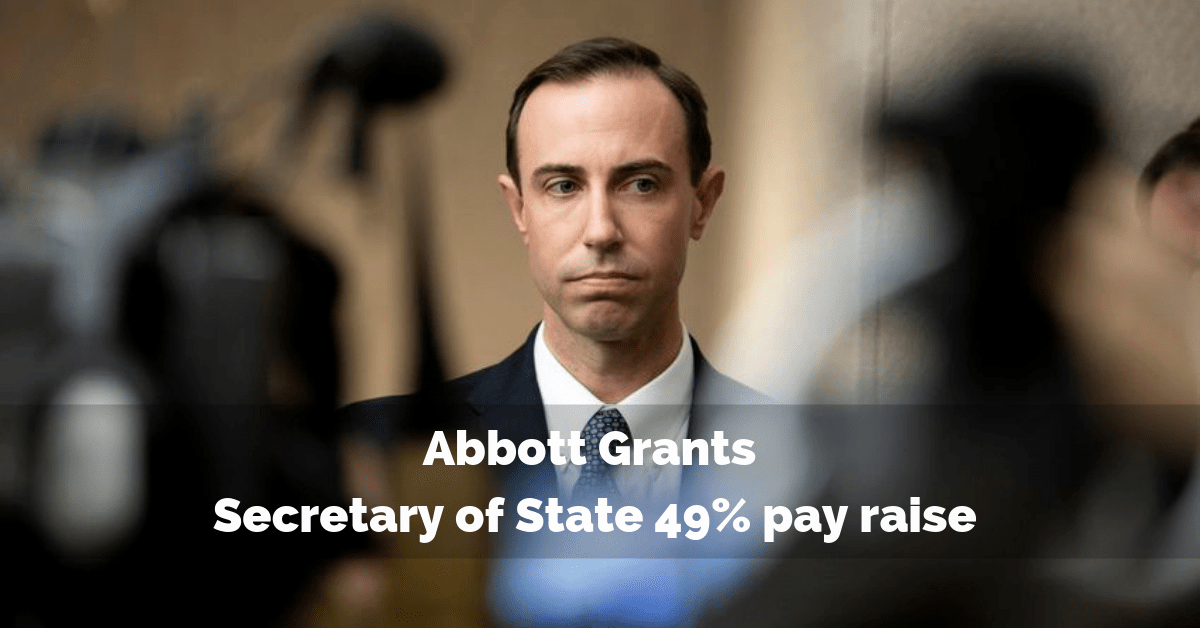 Abbott grants Secretary of State 49% pay raise