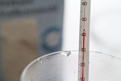 Ferment, Mehl, Schrot werden mit circa 40 ° warmen Wasser angerührt