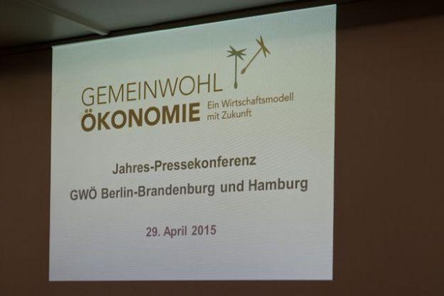 29.4.2015, Rathauspassage Hamburg, Jahrespresse-Konferenz Gemeinwohl-Ökonomie