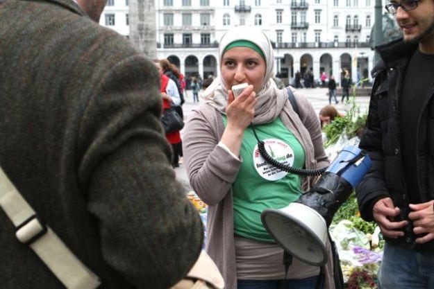 Fatma, charmante Foodsharing Botschafterin für Hamburg