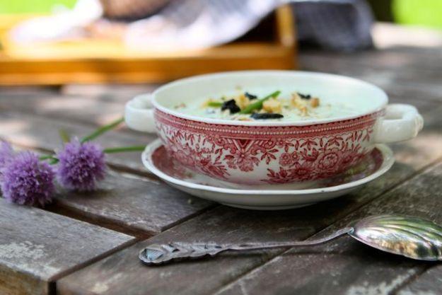 Kein Appetit bei dieser Hitze?  Diese geniale kalte Joghurtsuppe geht garantiert - soooo erfrischend