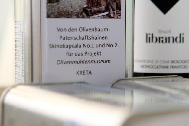 Der Erlös für Museumsoele aus Apulien oder Kreta fliessen in den arteFakt Stifterfonds