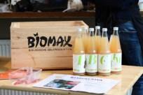 Äpfel und Saft von Obsthof Maxin bei Food Assembly Eröffnung, Hamburg