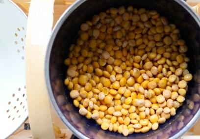 Nach dem Kochen haben Lupinen die Konsistenz von Mandeln