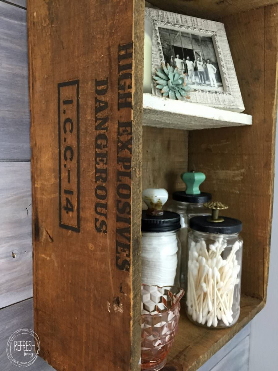 Reuse Old Glass Jars for Bathroom Organization  Refresh Living