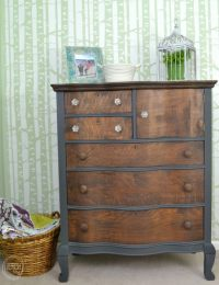 Refinished Antique Oak Dresser for My Daughters - Refresh ...