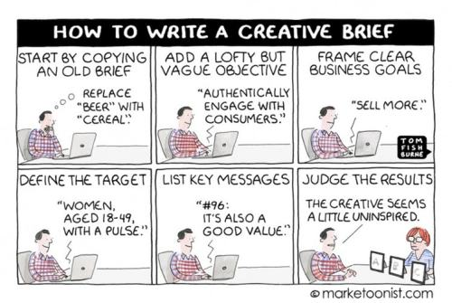 The Marketoonist's take on the creative brief process.