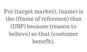 value prosposition statement