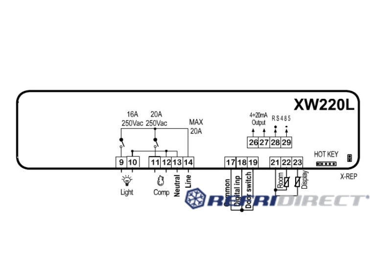 controller Dixell series Wing mod. XW220L