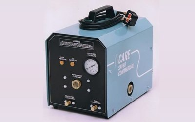 Early version of the Caresaver unit, designed for use with HC refrigerant