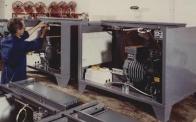 Packaged refrigeration condensing unit range for beer cellar application