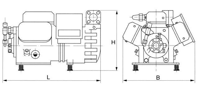 DWM Copeland AC Semi Hermetic Refrigeration Compressor