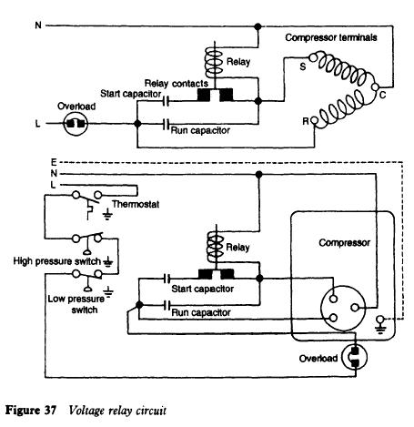 compressor wiring of relay wiring free printable wiring diagrams