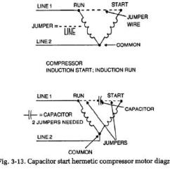 Wiring Diagram Of A Single Phase Motor With Two Capacitors Leviton Switch Instructions Refrigerator Compressor Locked Rotor Test | Troubleshooting