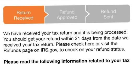 Refund Status Bar Disappear