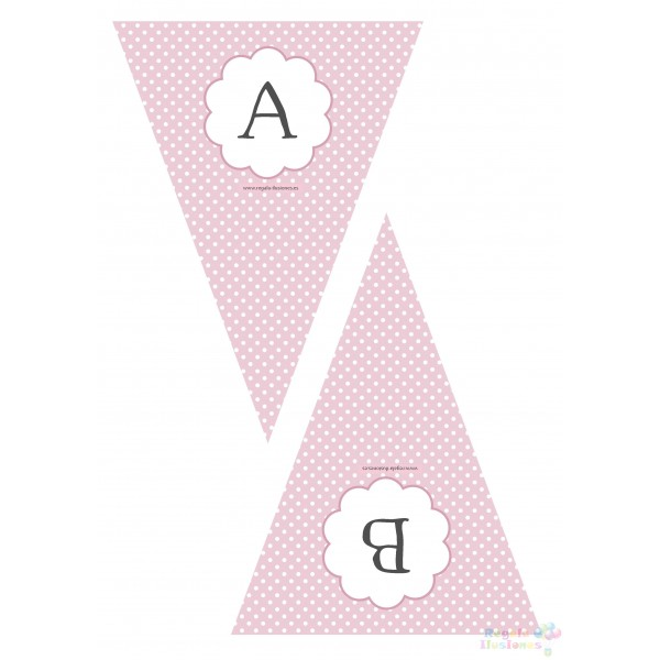 100 Bandern Letra RPB imprimible  Regala Ilusiones