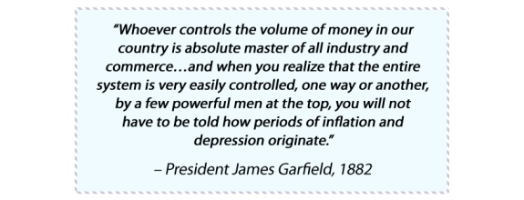Quote from President James Garfield, 1882