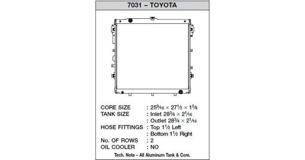 CSF Race Radiator for 07-10 Toyota Tundra V8 (Automatic