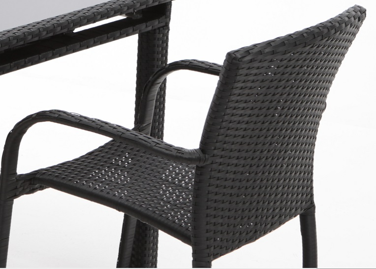 Silla terraza aluminio y rattan negro Panama  www