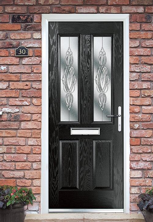 Decorative Door Glass  Lead colour bevels patterns