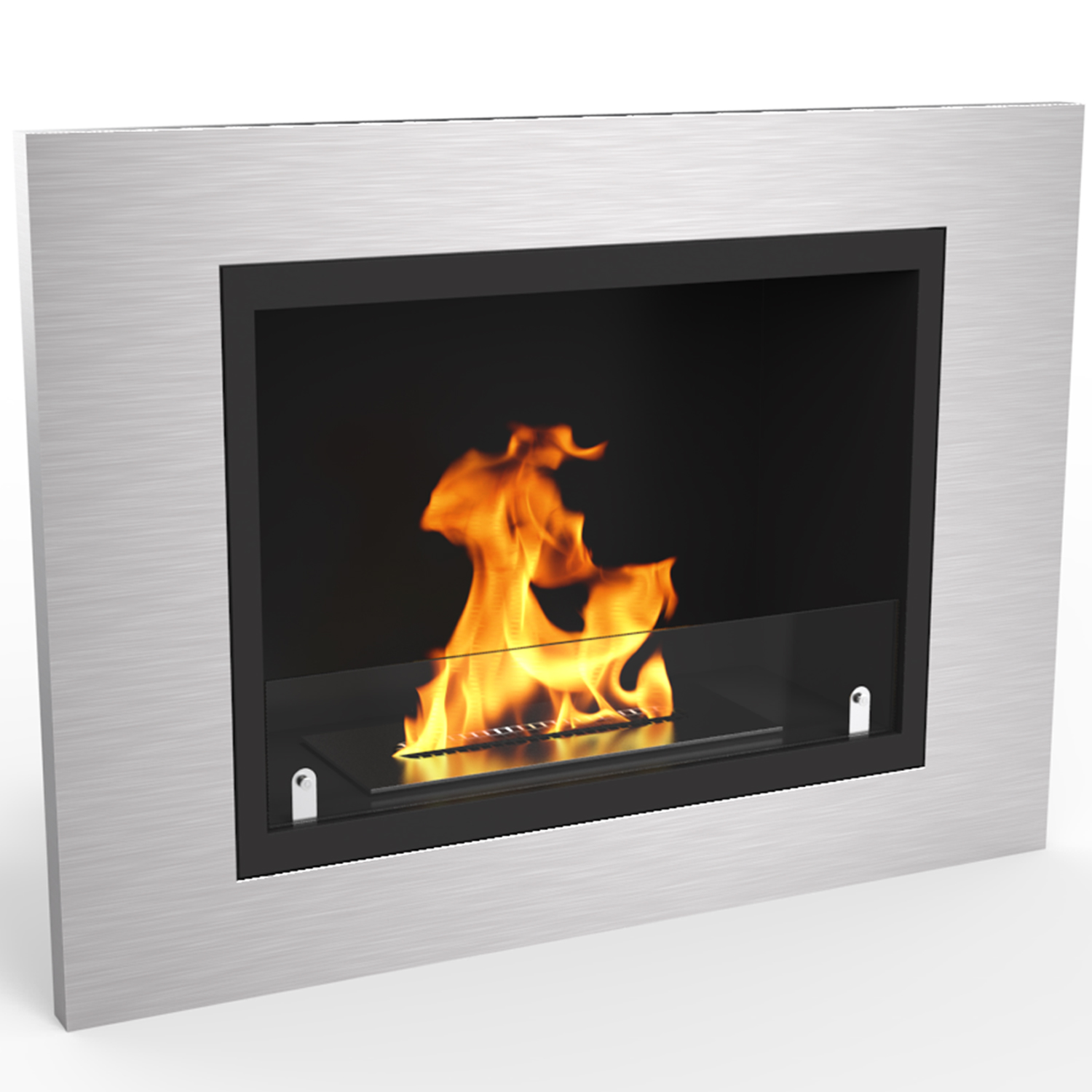 Venice 32 Inch Ventless Built In Recessed Bio Ethanol Wall